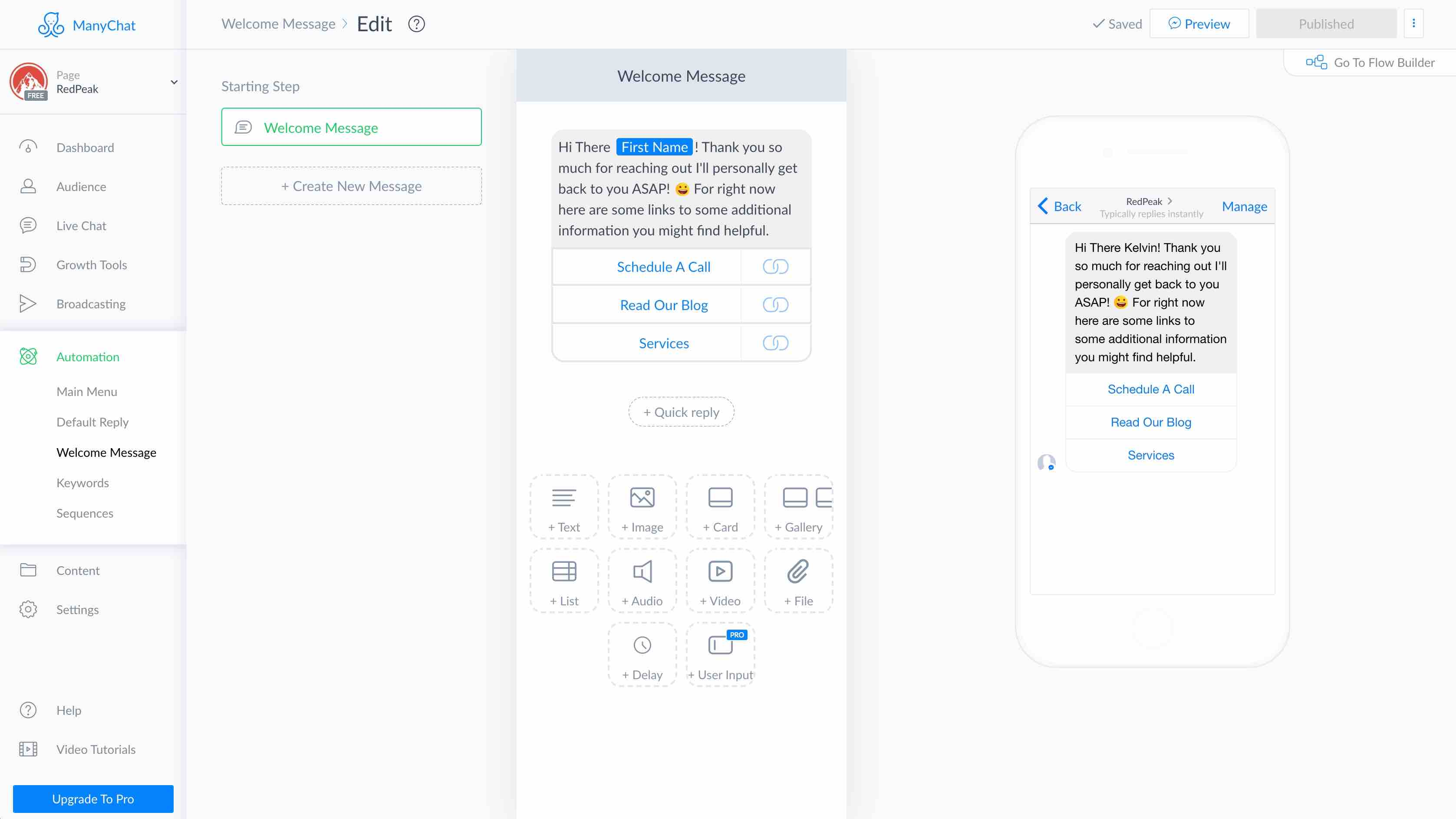 Create Your First Messenger Chatbot